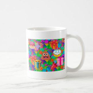 emoji del impulso del feliz cumpleaños taza de café