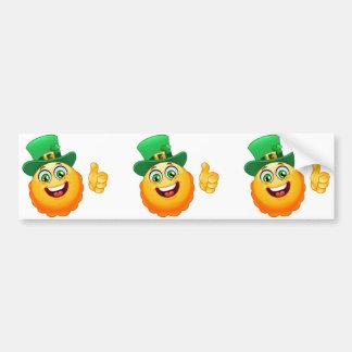 emoji del leprechaun pegatina para coche