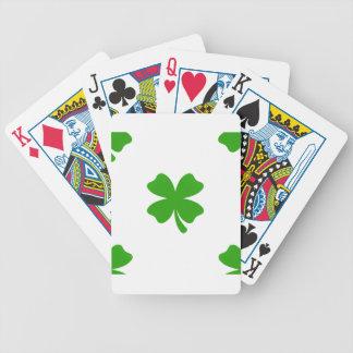 emoji del trébol de los patricks del st baraja de cartas bicycle