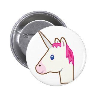 Emoji del unicornio chapa redonda de 5 cm