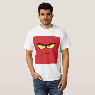 Emoji enojado cuadrado camiseta