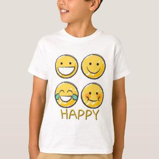 Emoji feliz camiseta