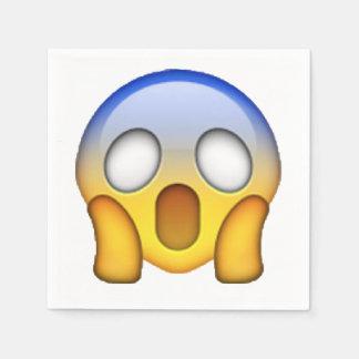 Emoji - gritando servilleta de papel