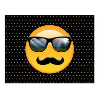 Emoji ID230 sombrío estupendo Postal
