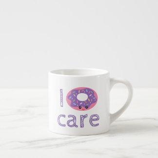 Emoji lindo del humor del retruécano del buñuelo taza de espresso