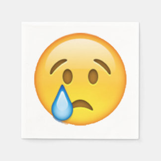 Emoji - llorando servilletas desechables