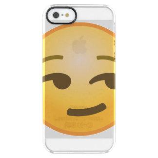 Emoji Smirking Funda Transparente Para iPhone SE/5/5s