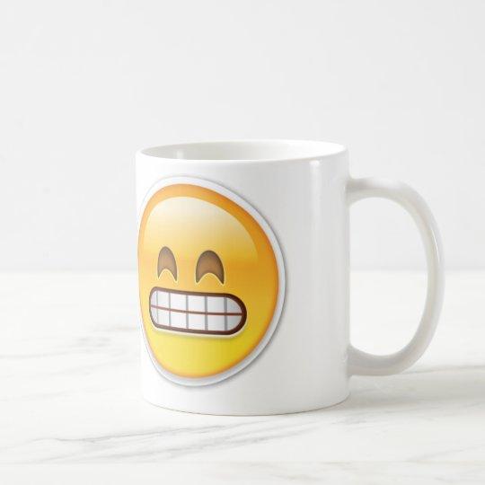 Emoji torpe taza de café