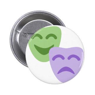 Emoji Twitter - Drama Theater Chapa Redonda 5 Cm