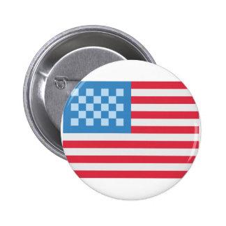 Emoji Twitter los EE.UU Bandera Chapa Redonda 5 Cm