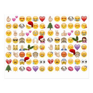 emojis del navidad postal