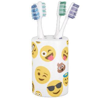 Emojis sonriente loco conjunto de baño