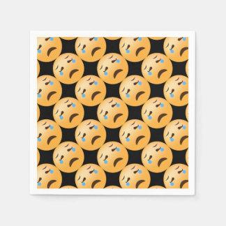 Emojis triste servilleta de papel