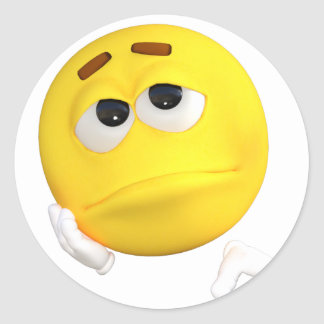 emoticon-1634515 pegatina redonda