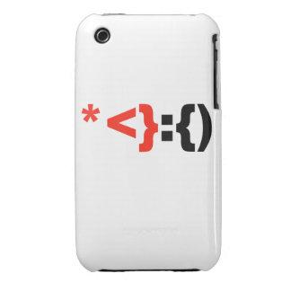 Emoticon de Papá Noel - iPhone 3 Case-Mate Funda