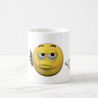 Emoticon del teléfono taza de café