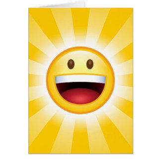 Emoticon feliz de la cara felicitacion