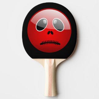 Emoticon rojo del compinche de Pong Pala De Ping Pong