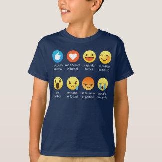 Emoticonos Graciosos de Futbol (fútbol del amor de Camiseta