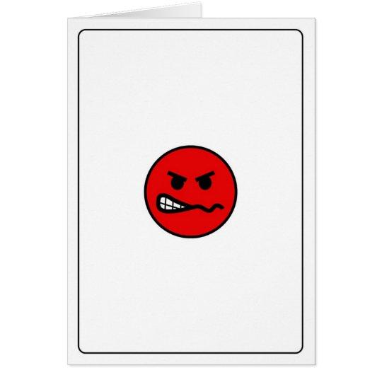 Emoticons - enojados tarjeta de felicitación