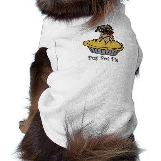 Empanada caliente del barro amasado camiseta sin mangas para perro
