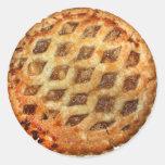 Empanada de Apple fresca caliente Pegatina Redonda