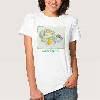 Empanada de merengue de limón con café express camiseta