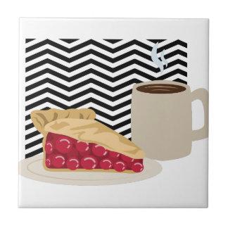 Empanada del café y de la cereza azulejo de cerámica