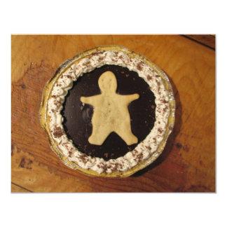 Empanada del hombre del chocolate invitación 10,8 x 13,9 cm