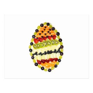 Empanada formada huevo de la fruta con las postal