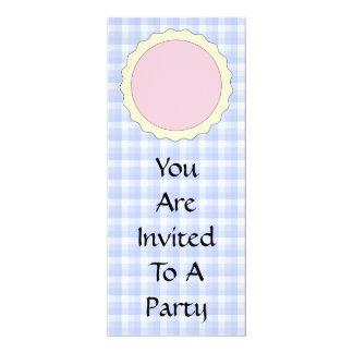 Empanada rosada. Tarta de la fresa. Control azul Invitación 10,1 X 23,5 Cm