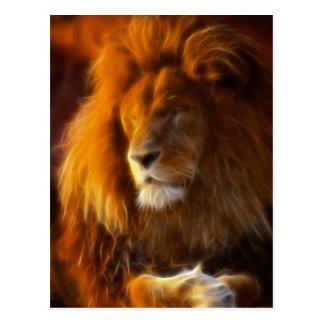 Empapando para arriba el Sun, rey del león de la Postal