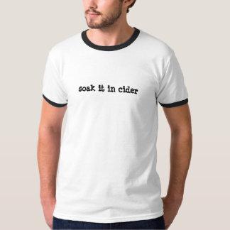 empápelo en sidra camiseta