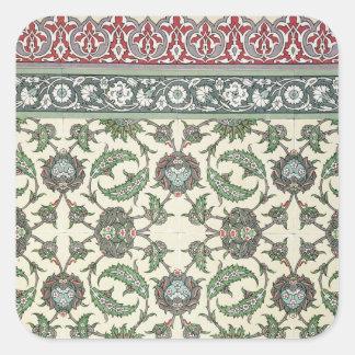 Emparede las tejas de la mezquita de Cheykhoun, Colcomanias Cuadradas Personalizadas