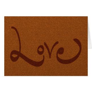 Empatía del amor tarjeta de felicitación