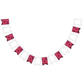 Empavesado del boda/del fiesta del rosa rojo banderines