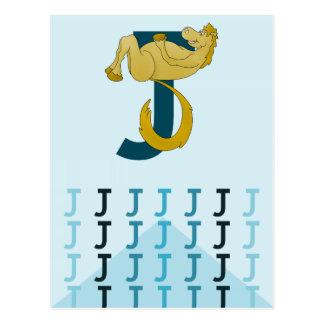 Empavesado flexible del potro de la tarjeta azul c tarjetas postales