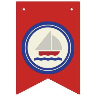 Empavesado náutico del rojo, blanco y azul de la banderines
