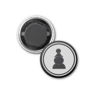 Empeño del negro del pedazo de ajedrez imanes