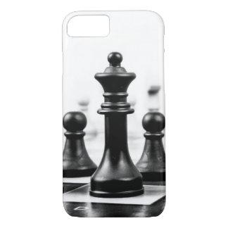 Empeños del tablero de ajedrez y caso de la reina funda iPhone 7