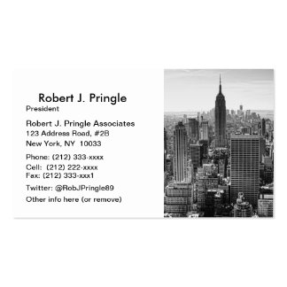 Empire State Building del horizonte de la ciudad Tarjetas De Visita