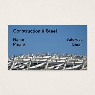 Emplazamiento de la obra del gran escala tarjeta de negocios