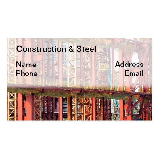 Emplazamiento de la obra del gran escala tarjetas de negocios
