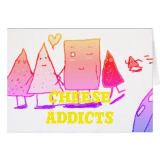 Emplazamiento de los adictos al queso tarjeta de felicitación