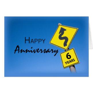 Empleado 3924 aniversario de 6 años tarjeta de felicitación