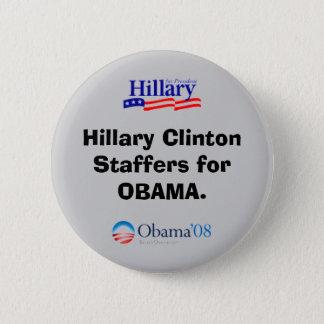 Empleados de plantilla de Clinton para el botón de