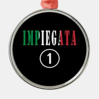 Empleados italianos para ella: Uno de Impiegata Adorno Redondo Plateado