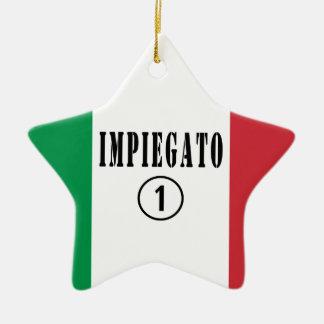 Empleados italianos: Uno de Impiegato Numero Adorno De Cerámica En Forma De Estrella