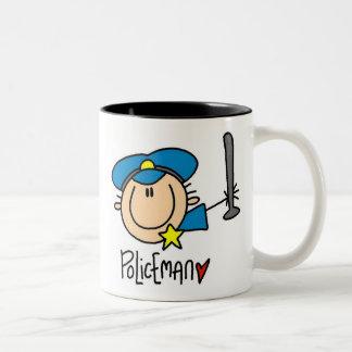 Empleo del policía taza de dos tonos