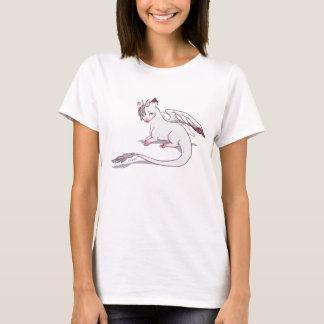 Emplume la camiseta blanca del dragón